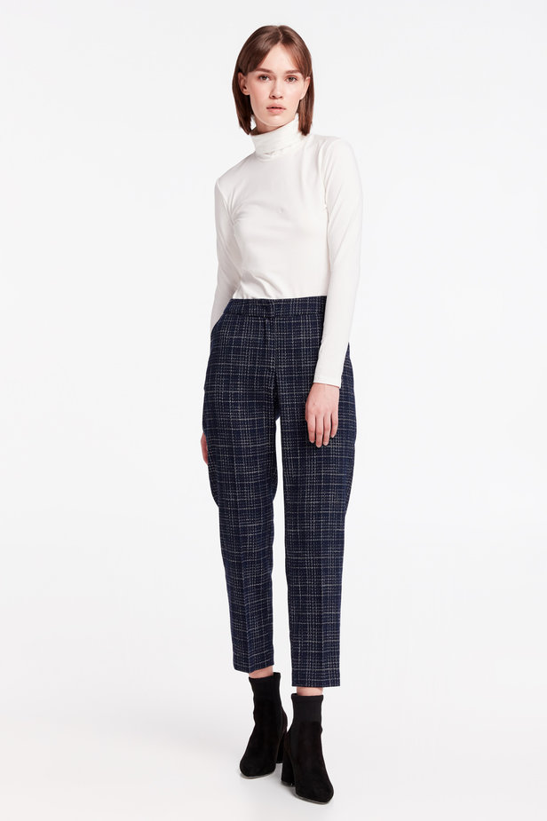 Dark-blue checkered pants photo 2 - MustHave online store