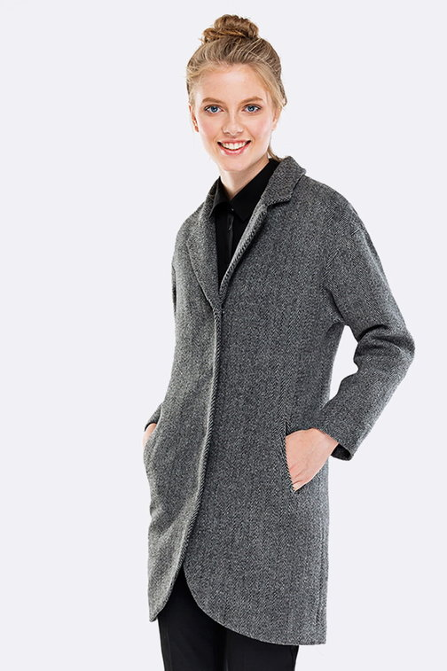 Above the knee grey coat