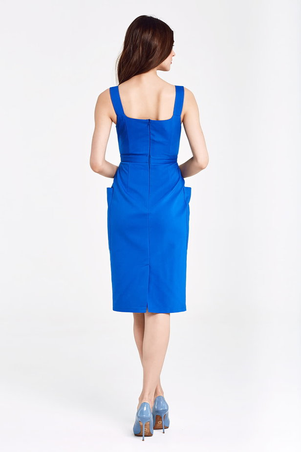 Dress blue with patch pockets photo 4 - MustHave online store