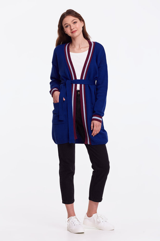 Blue cardigan with stripes photo 8 - MustHave online store
