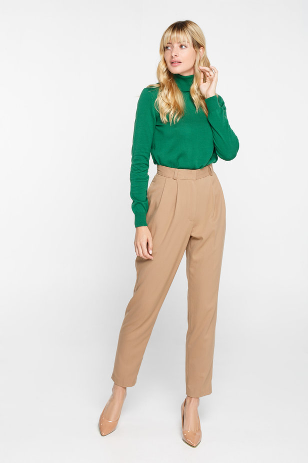 Green turtleneck with cotton photo 2 - MustHave online store