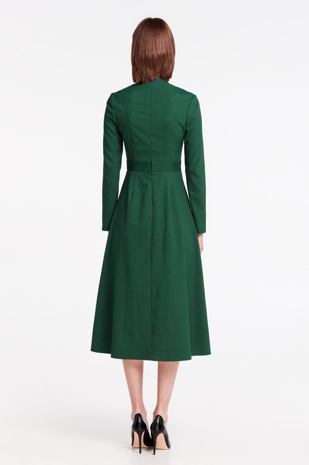 Green dress with a bow photo 5 - MustHave online store