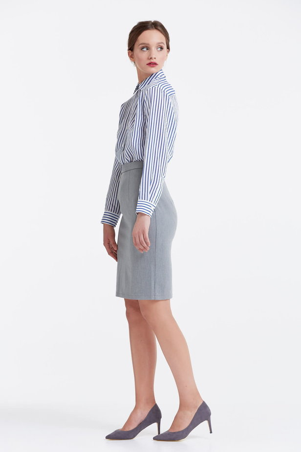 Above the knee grey pencil skirt photo 3 - MustHave online store