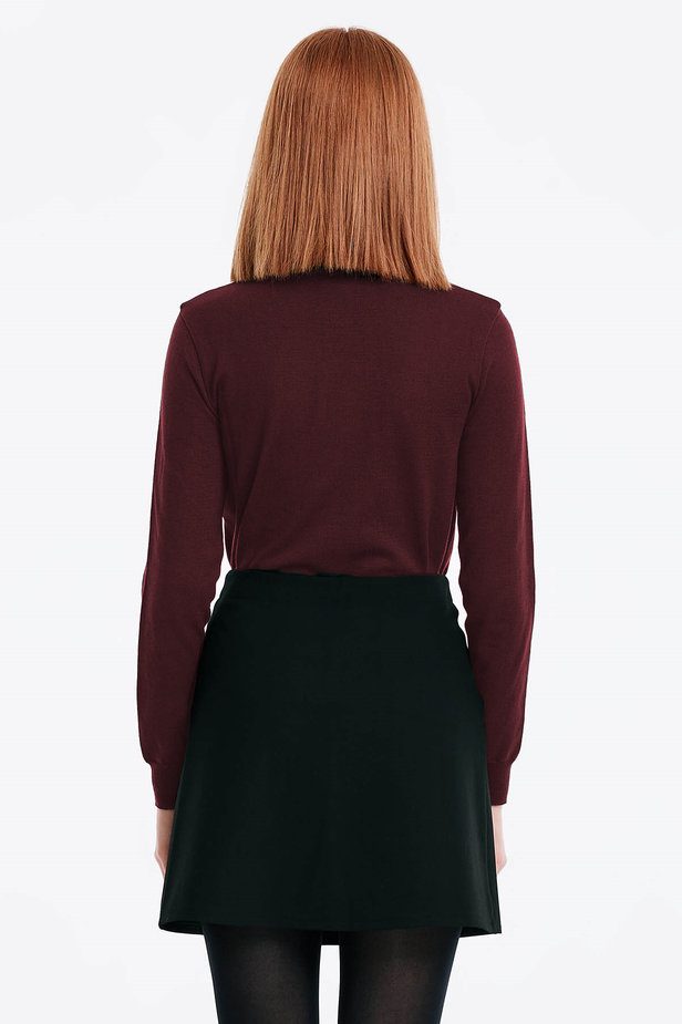Burgundy polo neck photo 2 - MustHave online store