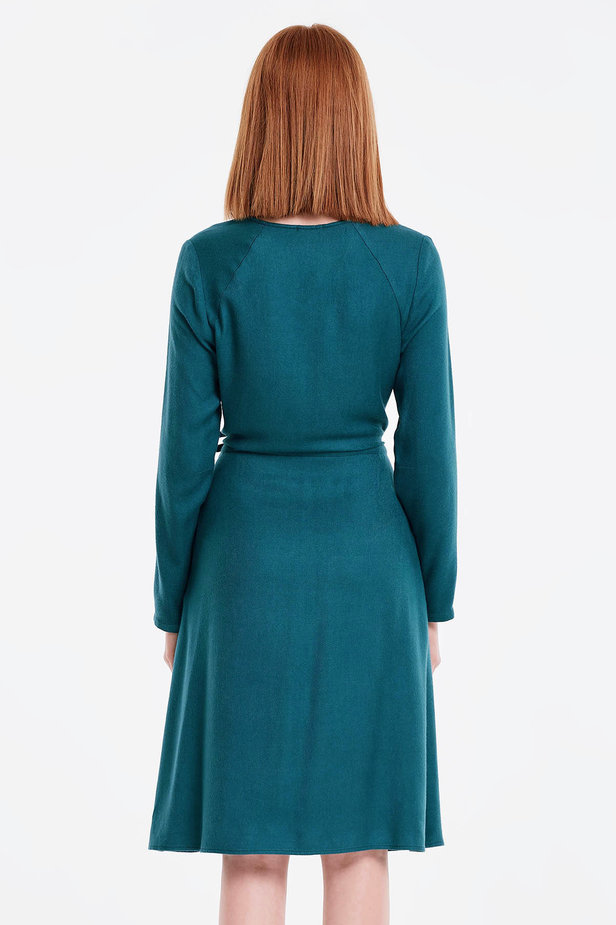 Wrap marine green dress photo 2 - MustHave online store