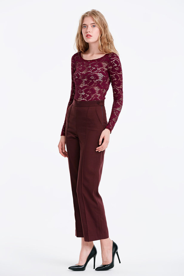 Burgundy trousers photo 3 - MustHave online store