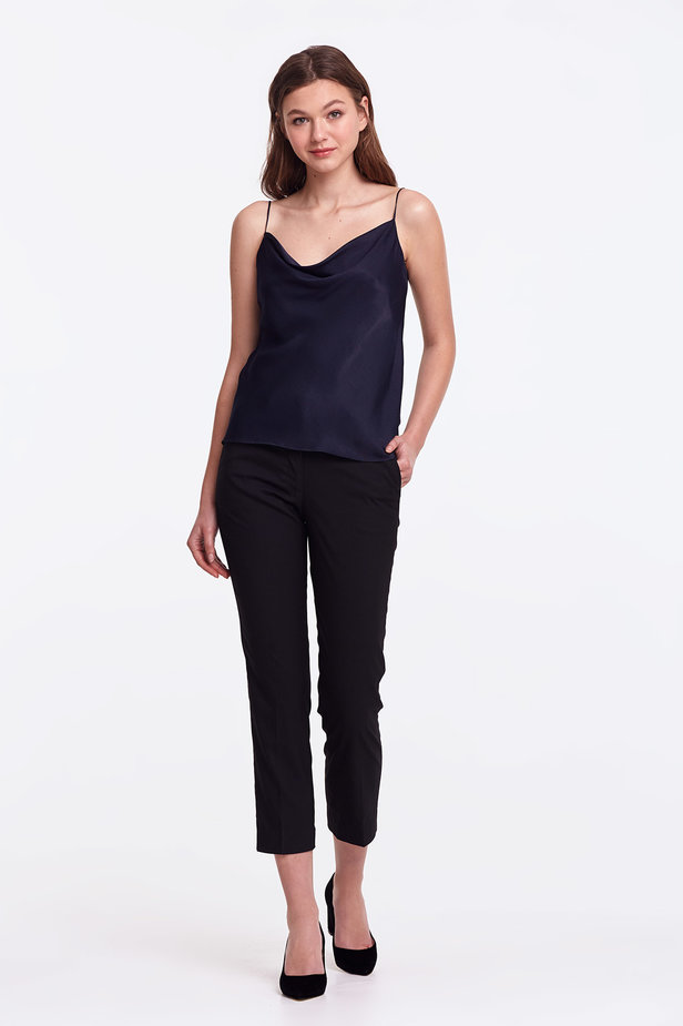 Dark blue top with straps photo 2 - MustHave online store