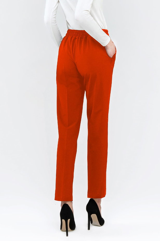 Red pants with an elastic waistband photo 2 - MustHave online store