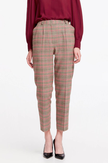 Beige checkered pants