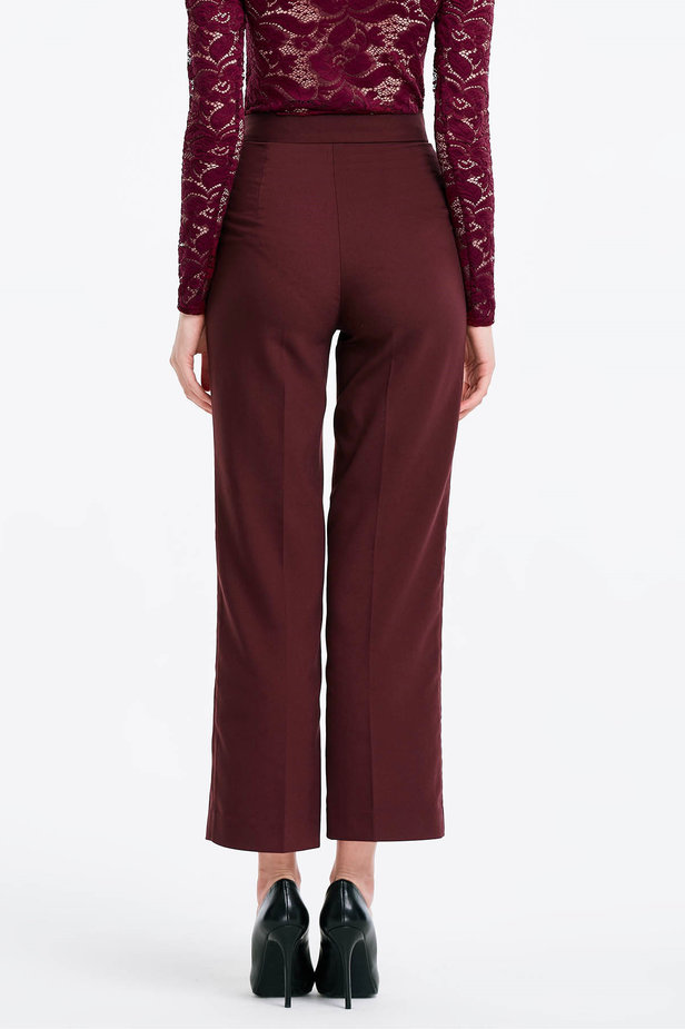 Burgundy trousers photo 2 - MustHave online store