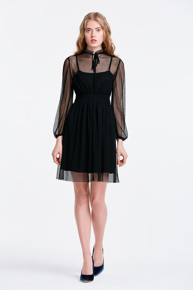 Black lace dress photo 5 - MustHave online store