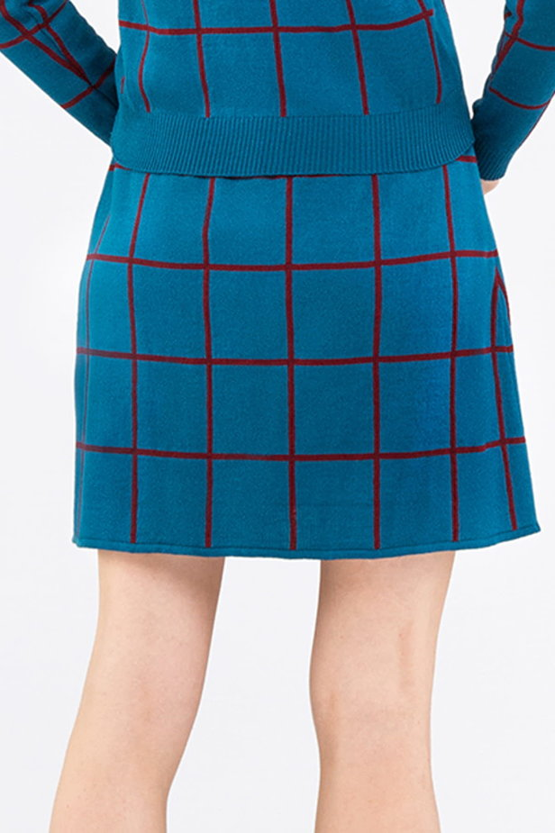 Checked blue dress photo 2 - MustHave online store