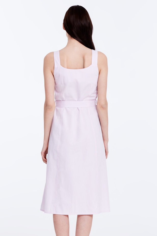 Light-pink sundress with a belt photo 5 - MustHave online store