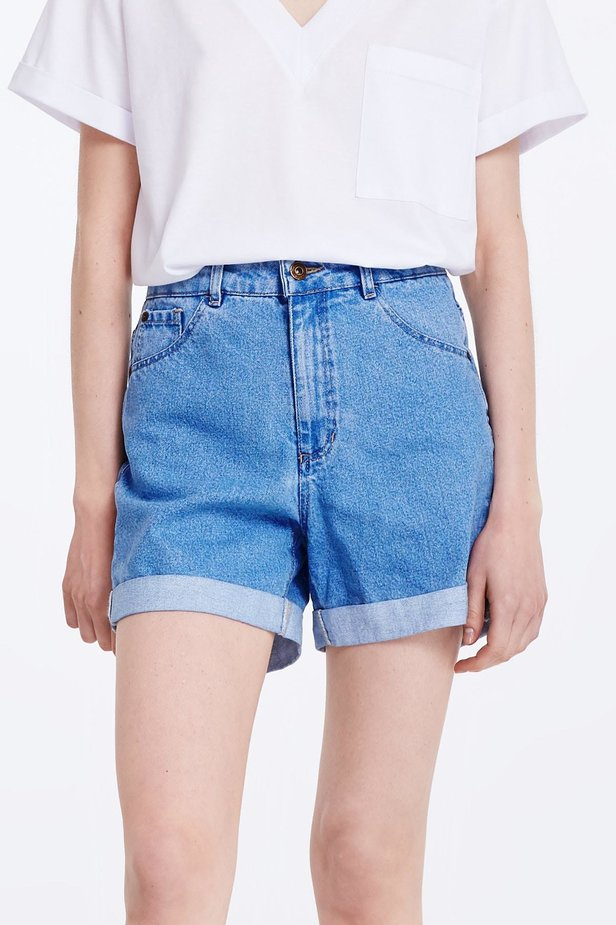 Blue denim shorts photo 1 - MustHave online store