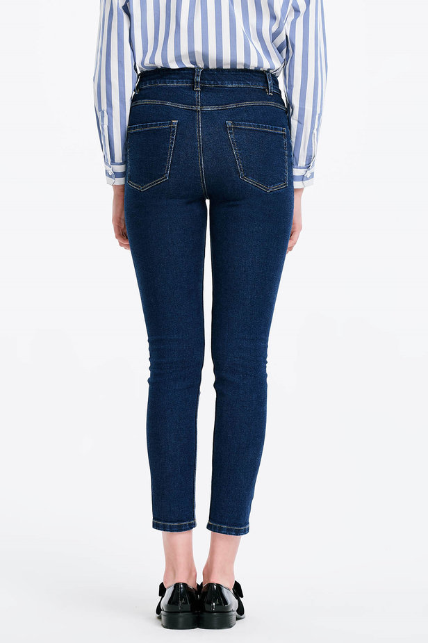 Short skinny blue jeans photo 3 - MustHave online store