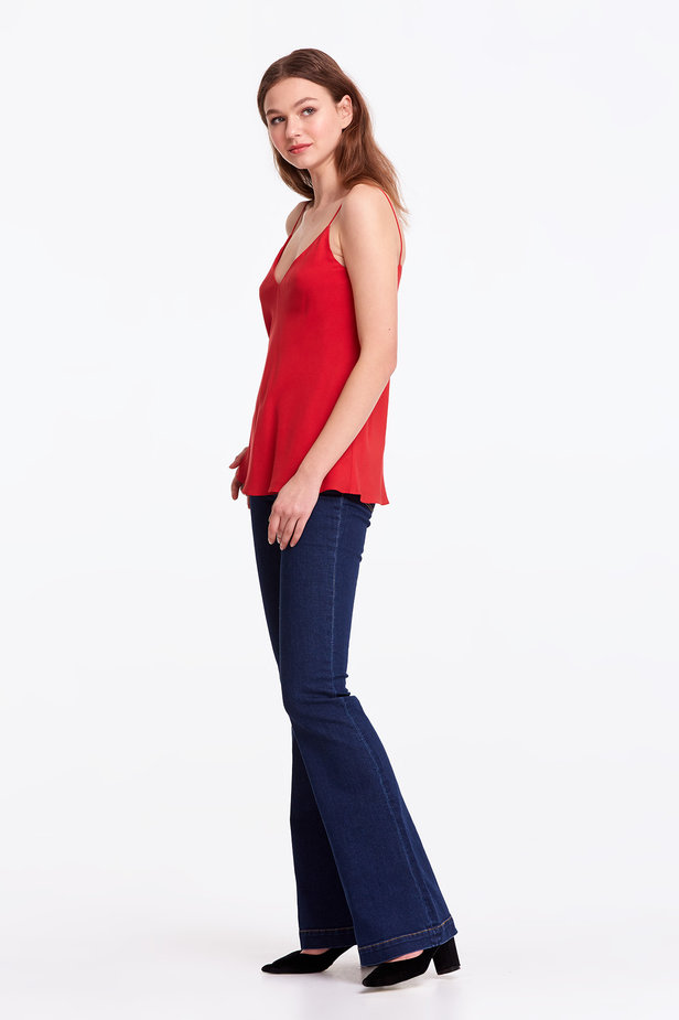 Red rayon top photo 3 - MustHave online store