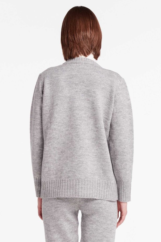 Grey V-neck sweater photo 4 - MustHave online store