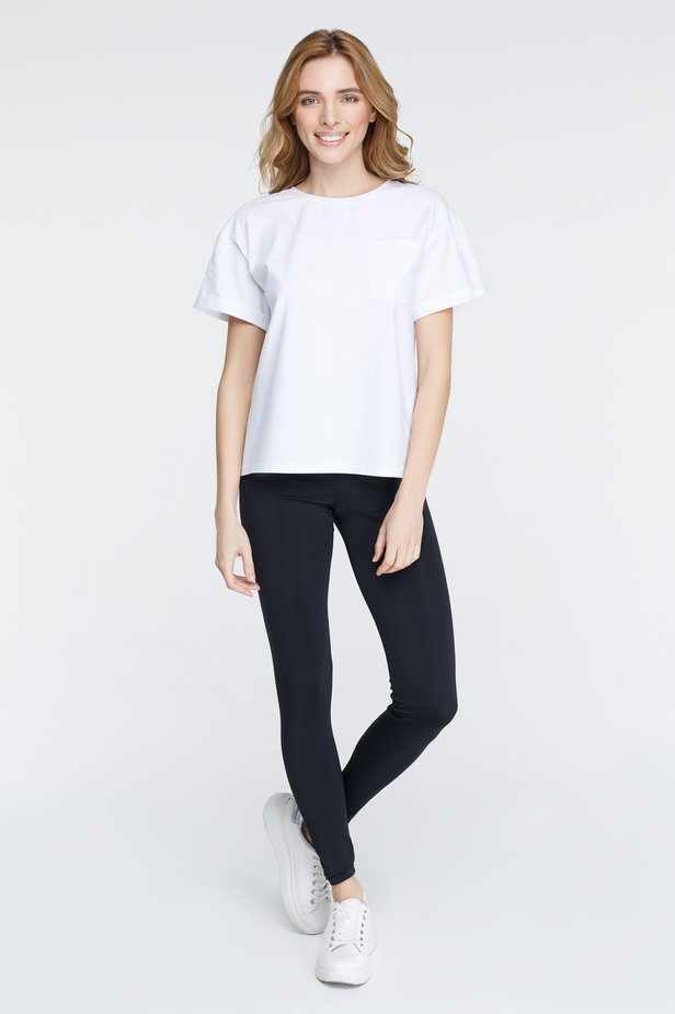 White T-shirt with a pocket photo 2 - MustHave online store