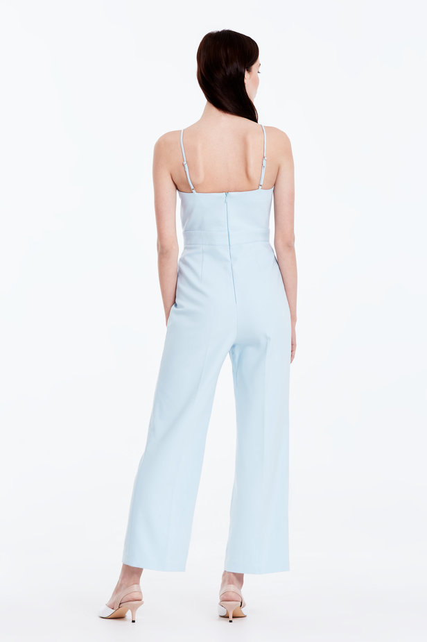 Blue jumpsuit with straps photo 3 - MustHave online store