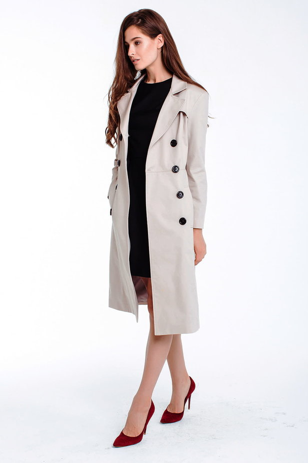 Double-breasted beige trenchcoat photo 5 - MustHave online store