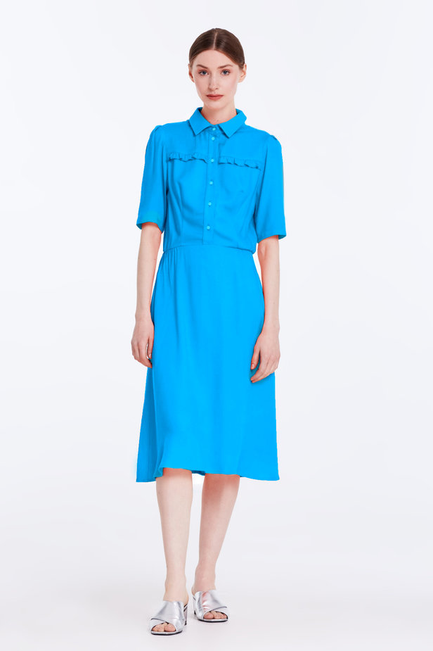 Blue dress with a shirt top photo 2 - MustHave online store
