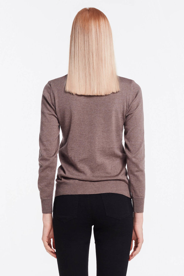 Brown knit polo neck photo 4 - MustHave online store
