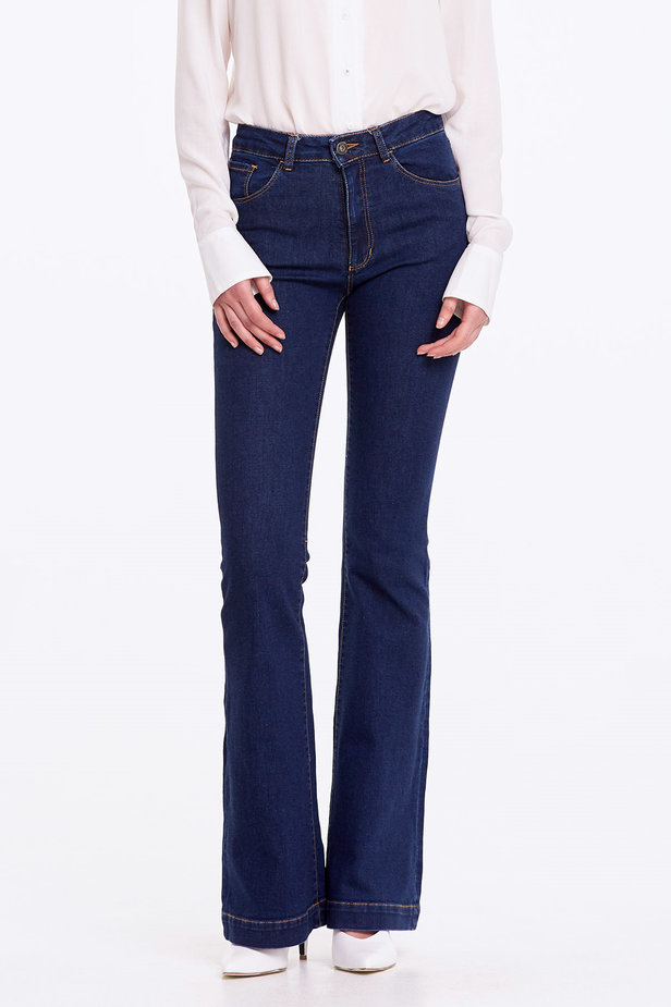 Flared blue jeans photo 1 - MustHave online store