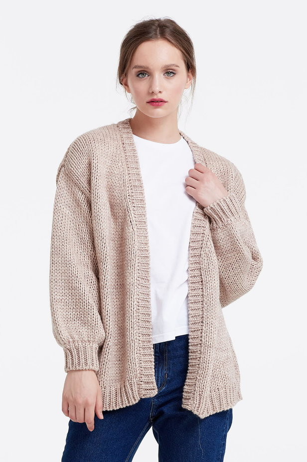 Swing beige cardigan photo 1 - MustHave online store