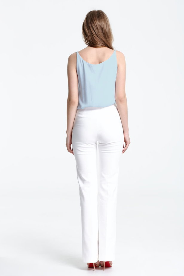 Blue top with a low neckline photo 2 - MustHave online store