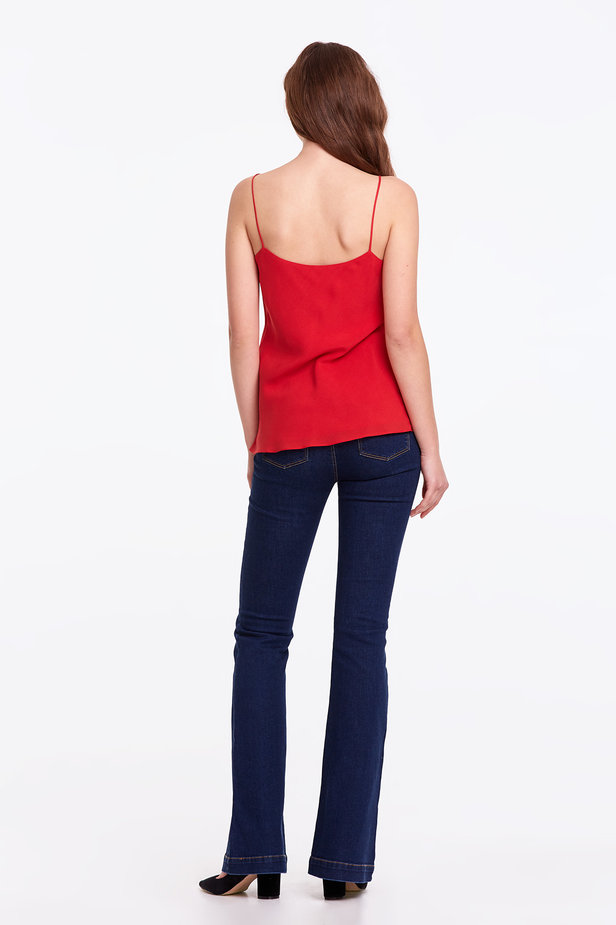 Red rayon top photo 5 - MustHave online store