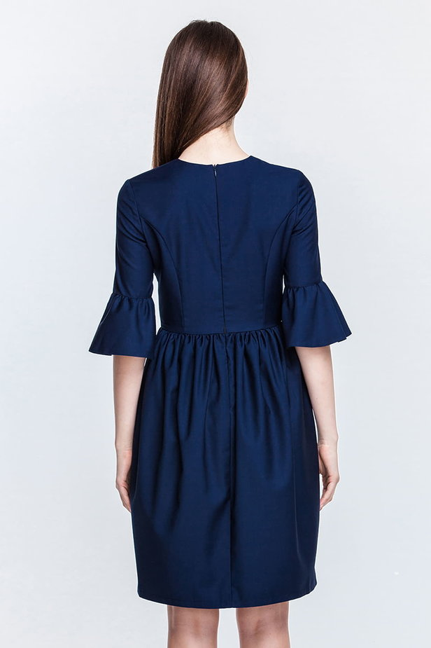 Blue dress with flared sleeves photo 5 - MustHave online store