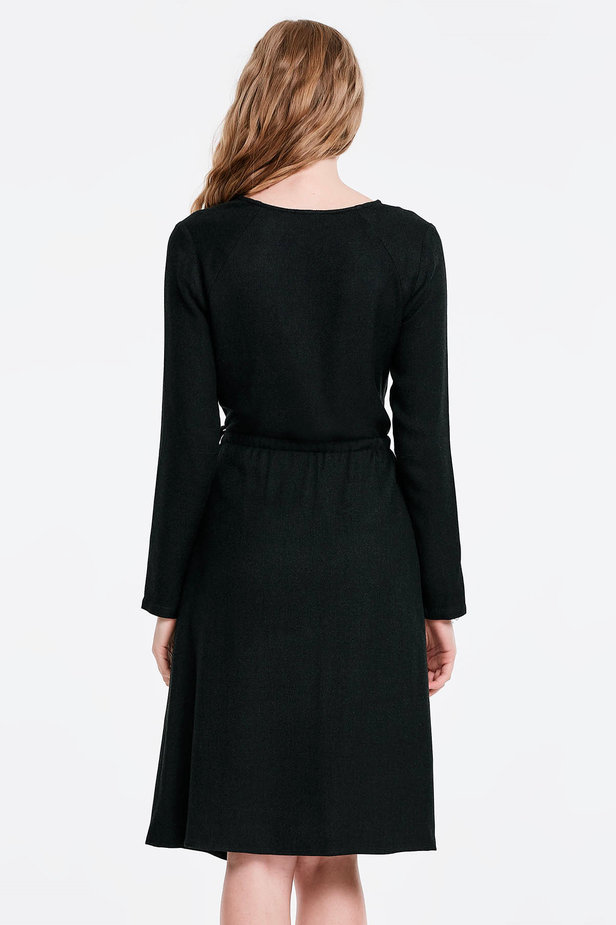 Wrap black dress photo 2 - MustHave online store