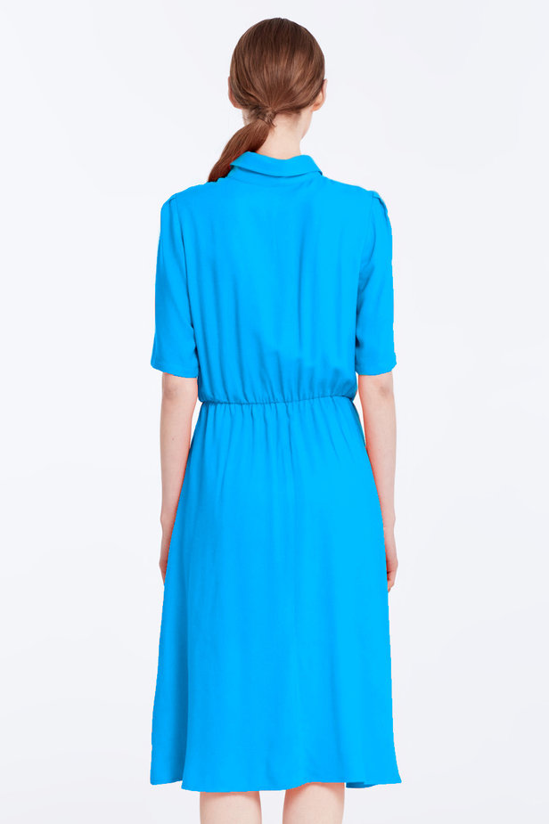 Blue dress with a shirt top photo 6 - MustHave online store