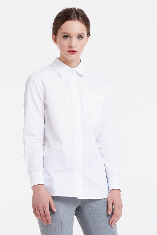 White shirt with a pocket