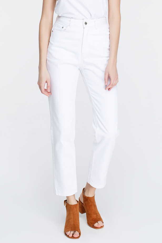White mom fit jeans photo 3 - MustHave online store