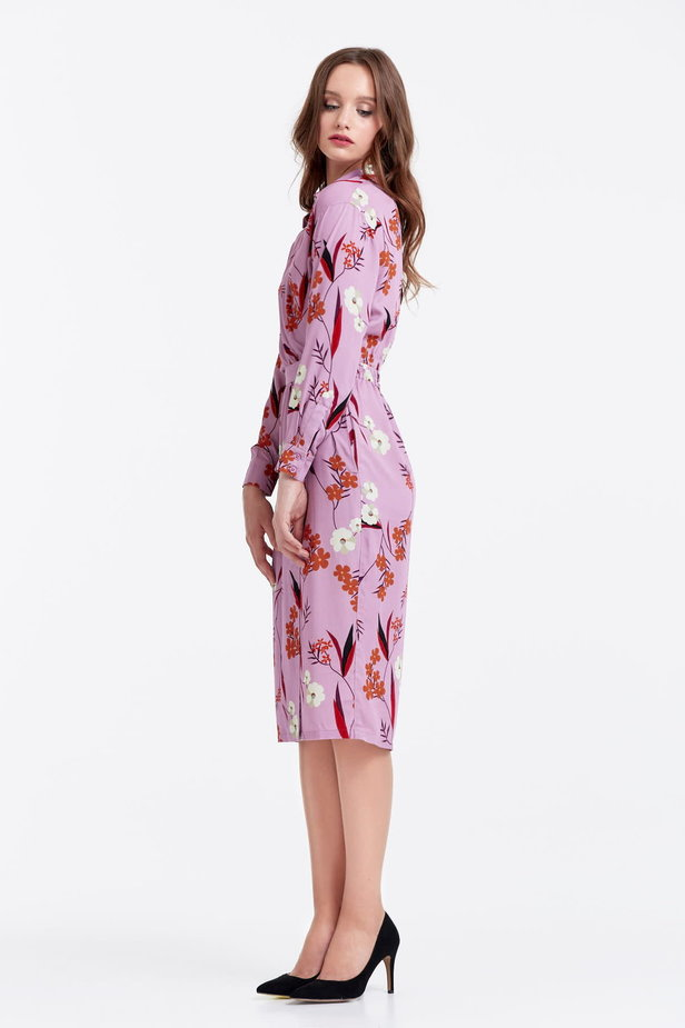 Wrap lilac dress with a floral print photo 2 - MustHave online store