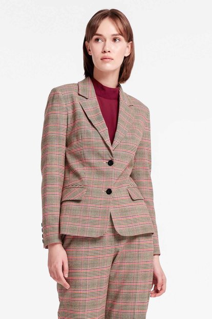 Beige checkered jacket