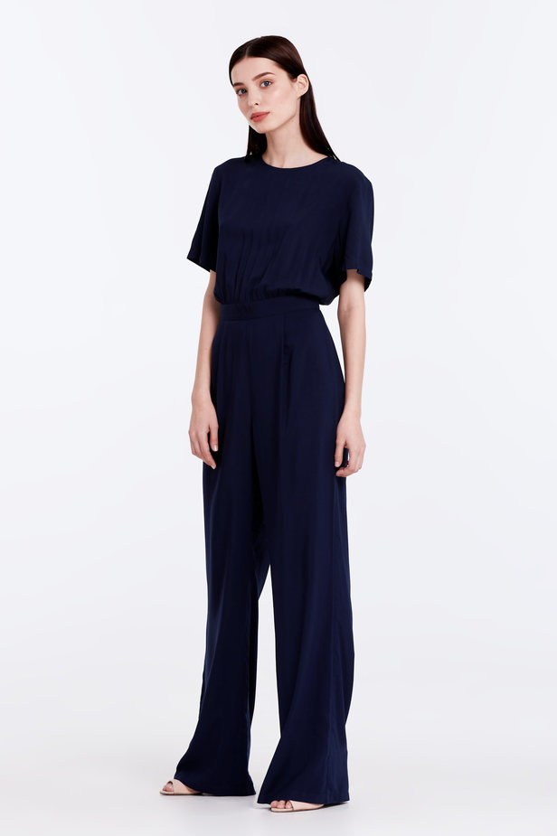 Dark-blue jumpsuit photo 2 - MustHave online store