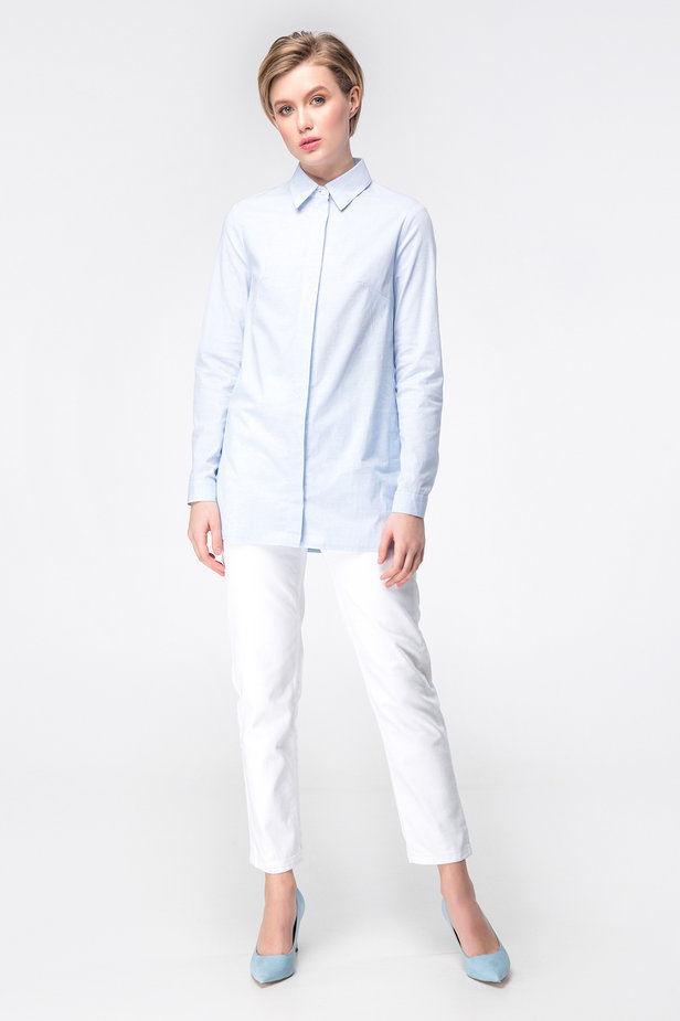 Blue long shirt photo 2 - MustHave online store