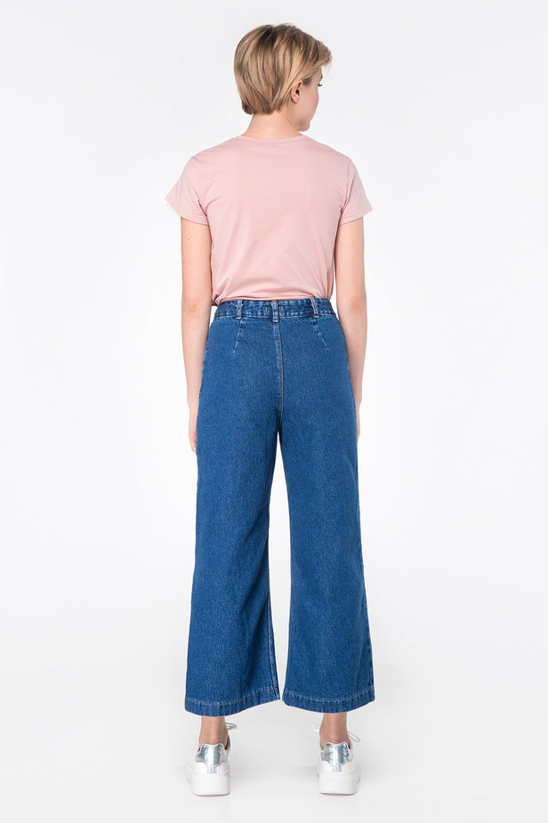 Blue jeans-culottes photo 5 - MustHave online store