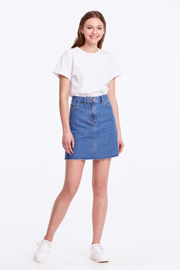 Mini denim skirt photo 2 - MustHave online store
