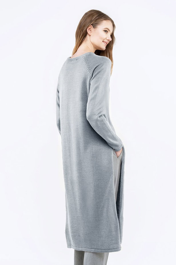 Light-grey tunic with slits photo 2 - MustHave online store