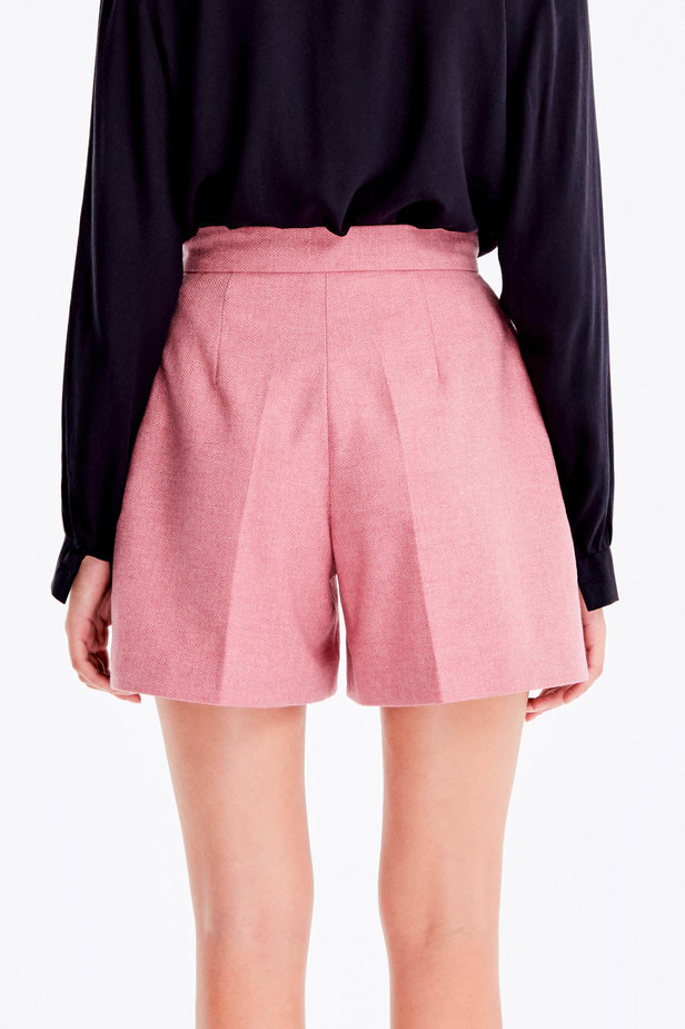 Pink shorts with herringbone print photo 5 - MustHave online store
