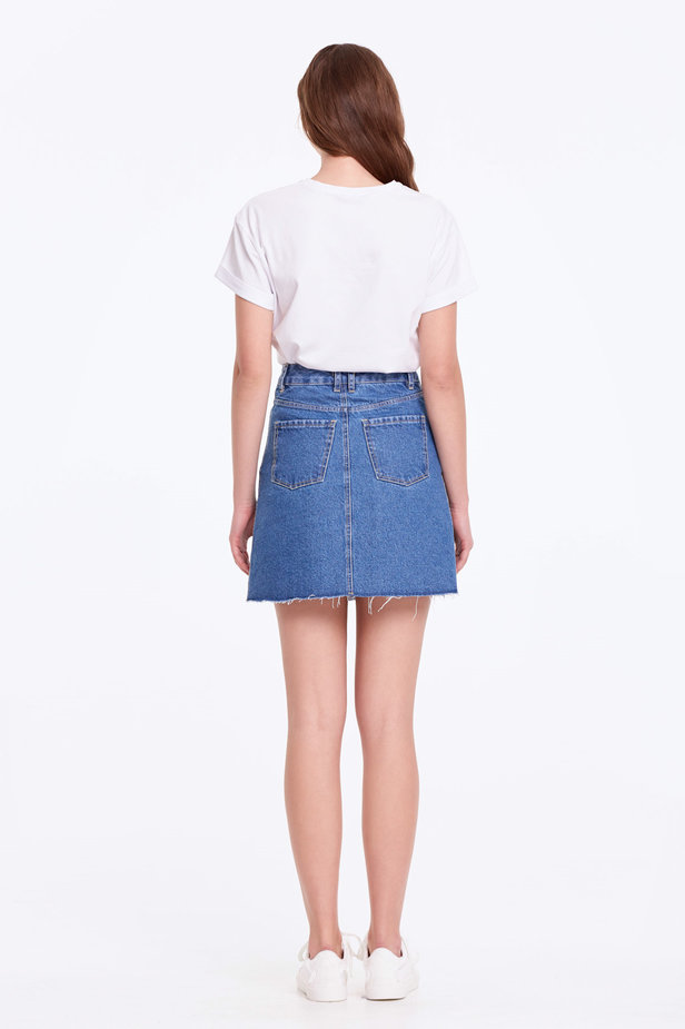 Mini denim skirt photo 4 - MustHave online store