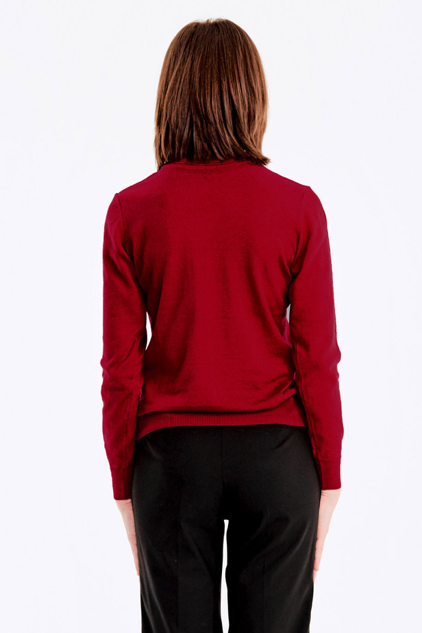 Red knit polo neck photo 5 - MustHave online store