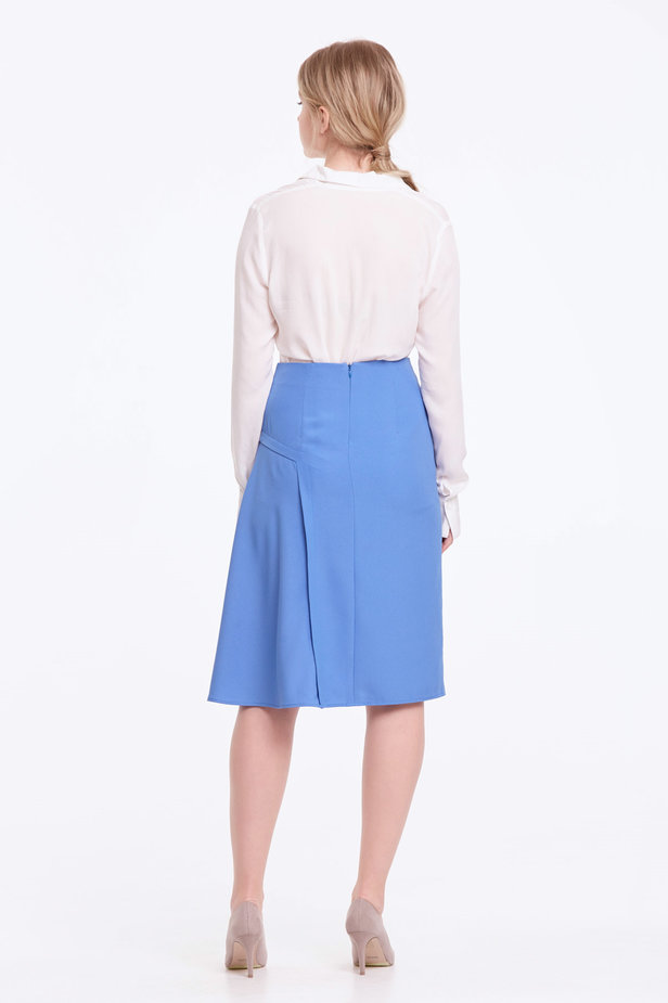 Blue skirt with pleats photo 4 - MustHave online store