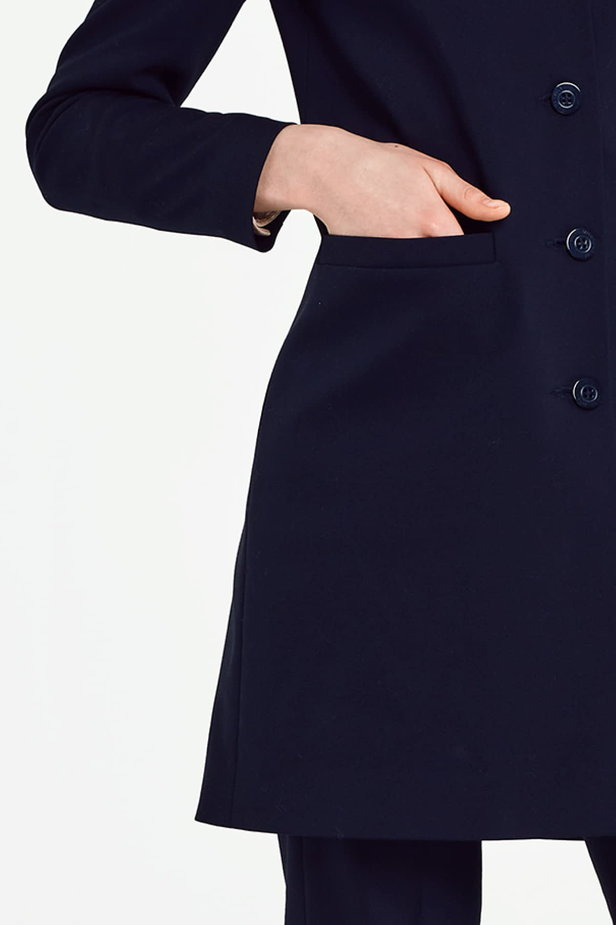 Long dark blue jacket photo 3 - MustHave online store