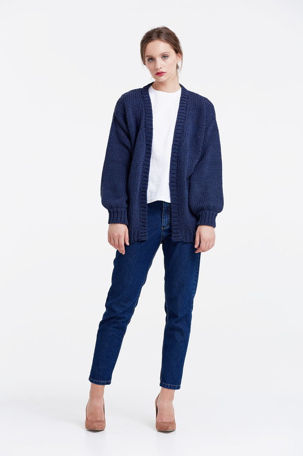 Swing dark blue cardigan photo 3 - MustHave online store