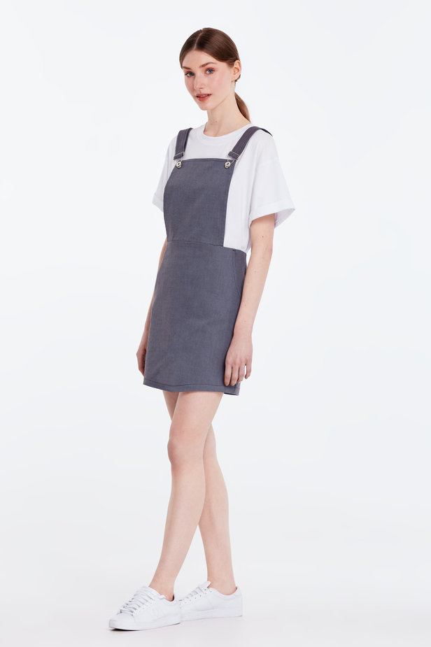 Above the knee grey sundress photo 3 - MustHave online store