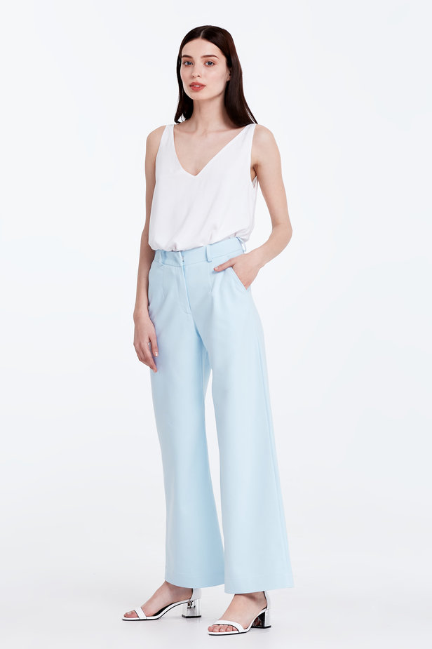 Wide leg blue trousers photo 4 - MustHave online store